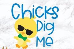 Chicks Dig Me Easter SVG Product Image 2