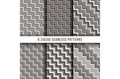 Diagonal zigzag line seamless pinstripe vector backgrounds Product Image 1