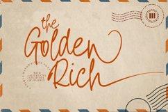 The Golden Rich- An Unique Handwritten Font Product Image 1
