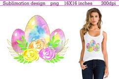 Easter Sublimation Design, Easter Egg sublimation,Easter Egg Product Image 1