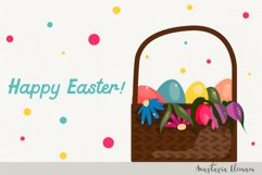 Easter eggs hunt clipart bunnies svg dxf eps commercial use Product Image 2