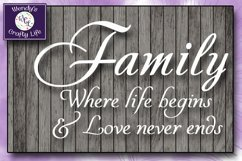 Family svg - Family wall quote or sign - SVG - PNG - PDF Product Image 1