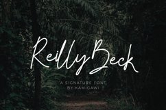 Reilly Beck - Signature Font Product Image 1