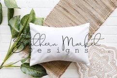 Boho Pillow Mock Up Farmhouse Styled Photography Product Image 1