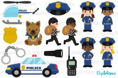 Cops Clipart, Police Officer Clip Art, Community Helpers Product Image 1