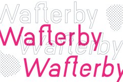 Wafterby Geometric Sans Serif Typeface Product Image 2