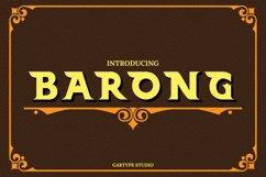Barong Font and Bonus // Web Font Product Image 1