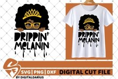 Drippin Melanin svg, Afro svg, Black Woman svg, Peek A Boo Product Image 1