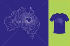 I Love Australia, Country Map Silhouette Product Image 6