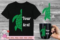 Sea Turtle Monogram SVG Product Image 1