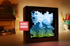 #213 Snow Board. sport sky, 3d paperlightbox Product Image 2