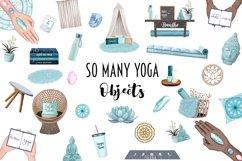 YOGA GIRL Clipart Meditation Fashion Girl Illustration Product Image 8