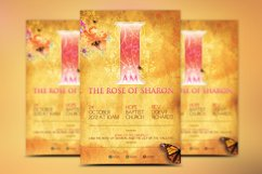 Rose of Sharon Church Flyer Template Product Image 2