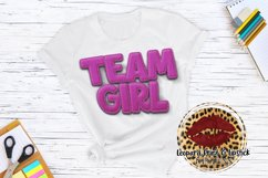 Sublimation Team Girl Baby Gender Reveal Product Image 2