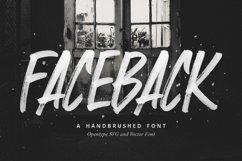 Faceback - SVG Brush Font Product Image 1
