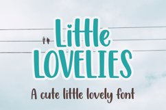 Little Lovelies - a fun craft font Product Image 1