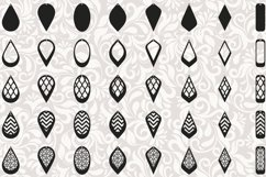 172 Earrings template SVG - Cut files - Leather earrings SVG Product Image 4