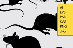 Mouse animal silhouette Product Image 2