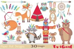 Tribal Woodland Animals Clipart Product Image 1