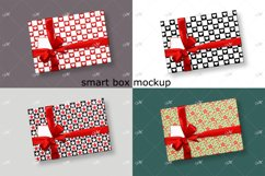 Smart Gift Box Mockup. Top view Product Image 1