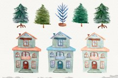 Watercolor Christmas decor clipart, Winter collection, birds Product Image 2