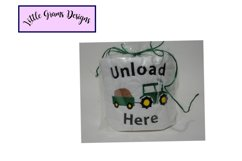 Truck Tractor Dump Toilet Paper Embroidery Design Product Image 3