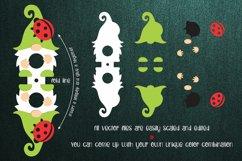 Gnome and Ladybug Lollipop Holder SVG Product Image 2