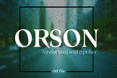 ORSON, An Essential Serif Typeface Product Image 1