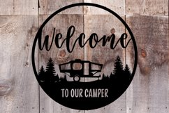 Welcome to Our Camper svg |cut files | Graphic Files Product Image 3