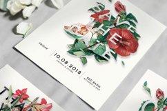 Modern Vintage Floral Wedding Invitation Suite Product Image 2