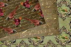 Vintage Birds Digital Paper Product Image 2