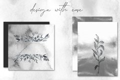 Smokey Watercolor Botanical Leaves - PNG and SVG Artwork Product Image 5
