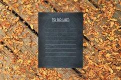 Fall Script Bullet Journal Font | Autumn Planner Scrapbook Product Image 3