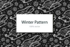 Winter pattern with sledge Product Image 1