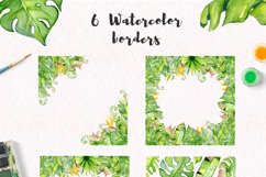 Tropical leaves Watercolor clipart Product Image 5