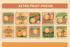 Orange Vintage Retro Signage Poster Vector Set Product Image 1