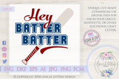 Hey Batter Batter Baseball Softball SVG DXF Cut File LL017E Product Image 1