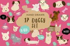 17 Doggy Set - Vector Graphics Product Image 1