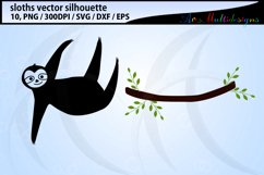 Sloth svg silhouette / hanging sloth silhouette / vector Product Image 2
