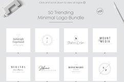 50 Trending Minimal Logo Bundle V02 Product Image 4