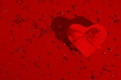 Heart shape gift box Valentine's day background Product Image 1