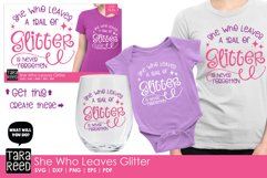 She Who Leaves Glitter - SVG and Cut Files for Crafters Product Image 2