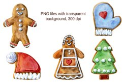Watercolor Christmas gingerbreads Product Image 2