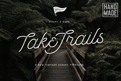 Take Trails Script Sans Typeface Product Image 1