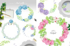 Watercolor Hydrangea Floral Clipart Product Image 5
