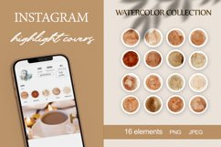 boho instagram story highlight icons watercolor vintage PNG Product Image 1