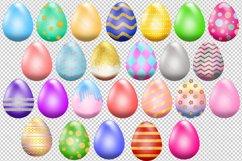 Easter Egg Clipart Pack, Elegant Design, Set of 25 Product Image 2