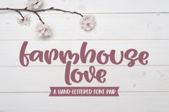 Farmhouse Love - A Playful Handlettered Font Pair Product Image 1