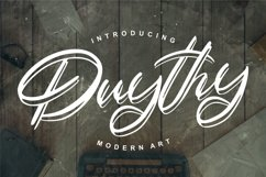 Duythy | Modern Art Font Product Image 1