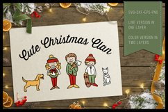 Cute Christmas Clan - Family Characters svg cutfiles vector Product Image 3